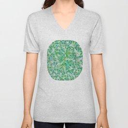 Green Cushion Gem Unisex V-Neck