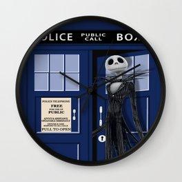 Jack Skellington On Tardis Wall Clock