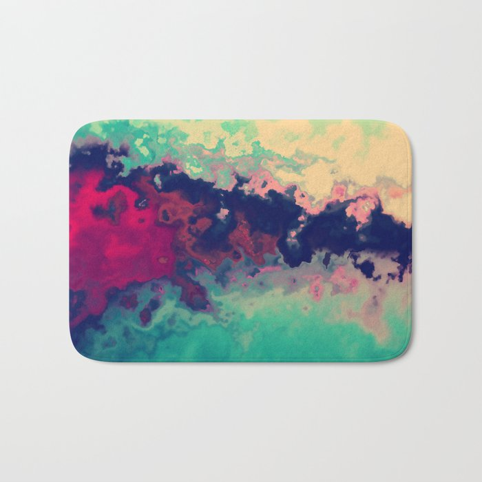 Watercolor marble Bath Mat