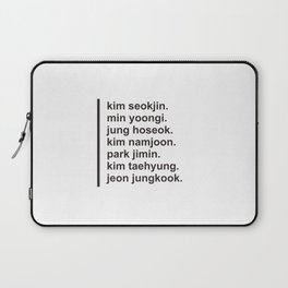 BTS Member Simple Typography Laptop Sleeve