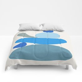 Blue Scoop \\ Abstract Comforters