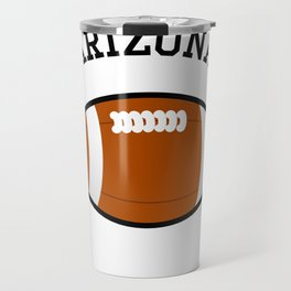 Arizona American Football Design black lettering Travel Mug
