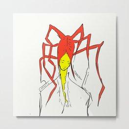Spider Head Metal Print