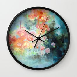 Flowers for Lizzy Wall Clock