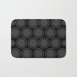 Black and Grey Circles | Mod Graphic Pattern #2 | Nadia Bonello | Canada Bath Mat
