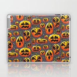 jack o lanterns jackolanterns purple pumpkin halloween creepy spooky holiday theme Laptop & iPad Skin