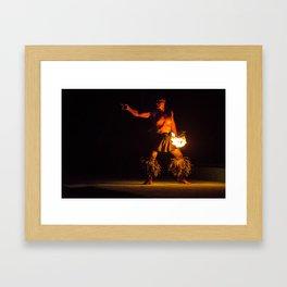 Fire Dance Framed Art Print