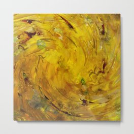 Yellow gemstone Metal Print