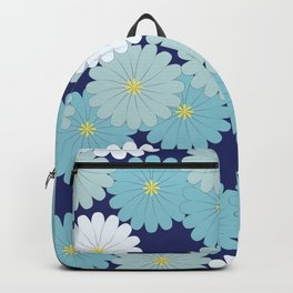 Blue oriental flowers Backpack