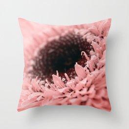Pink Sunflower Throw Pillow