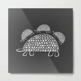 Persian Tortoise Motif Metal Print