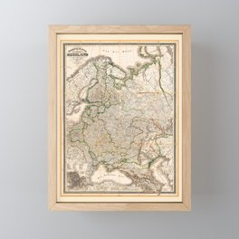Map of Western Russia (1854) Framed Mini Art Print