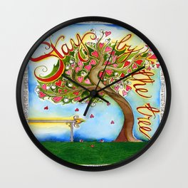 Stay By the Tree Wall Clock