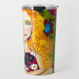 Cats In The Meadow Travel Mug