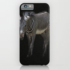 Black and White on Black Slim Case iPhone 6s