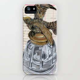 Hummingbird Inkwell in Gouache iPhone Case