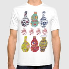 Chinese Pots MEDIUM Mens Fitted Tee White