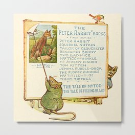 Peter Rabbit Books Billboard Metal Print