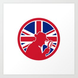 British Private Investigator Union Jack Flag Icon Art Print