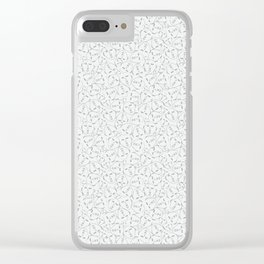 Faces, White Clear iPhone Case