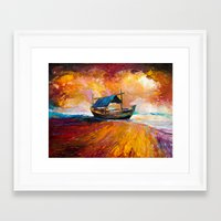 boat Framed Art Prints featuring Boat by BOYAN DIMITROV