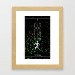 A Tarot of Ink 03 of Wands Framed Art Print