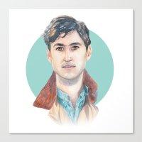 ezra koenig Canvas Prints featuring Ezra Koenig, Vampire Weekend by Megan Diño