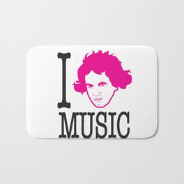 I __ Music Bath Mat