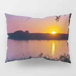 Beautiful sunset over the lake Pillow Sham