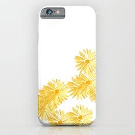 Flower minimal margarita daisy iPhone Case