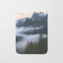 Three Brothers at Sunrise | Yosemite National Park, CA Bath Mat