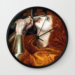 Dante Gabriel Rossetti Joan of Arc Wall Clock