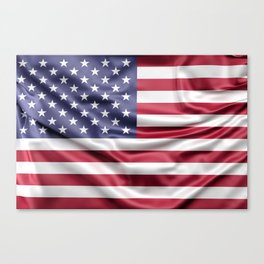 Flag of United States of America Canvas Print