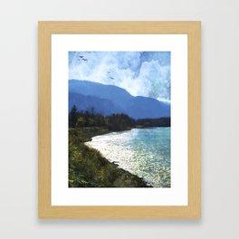 Peace In The Valley - Landscape Art Framed Art Print