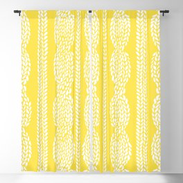 Cable Row Yellow Blackout Curtain