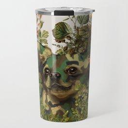 Camo Chihuahua Forest Adventure Travel Mug