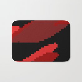 Black and Red abstract Bath Mat