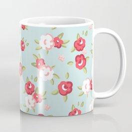 Red English Roses Coffee Mug