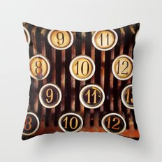 Vintage Numbers Throw Pillow