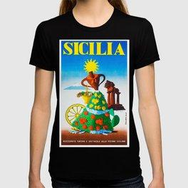 Vintage Sicilia Italia - Sicily Italy Travel T-shirt