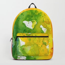 Rainbow Watercolor Texture Abstract Pattern Backpack