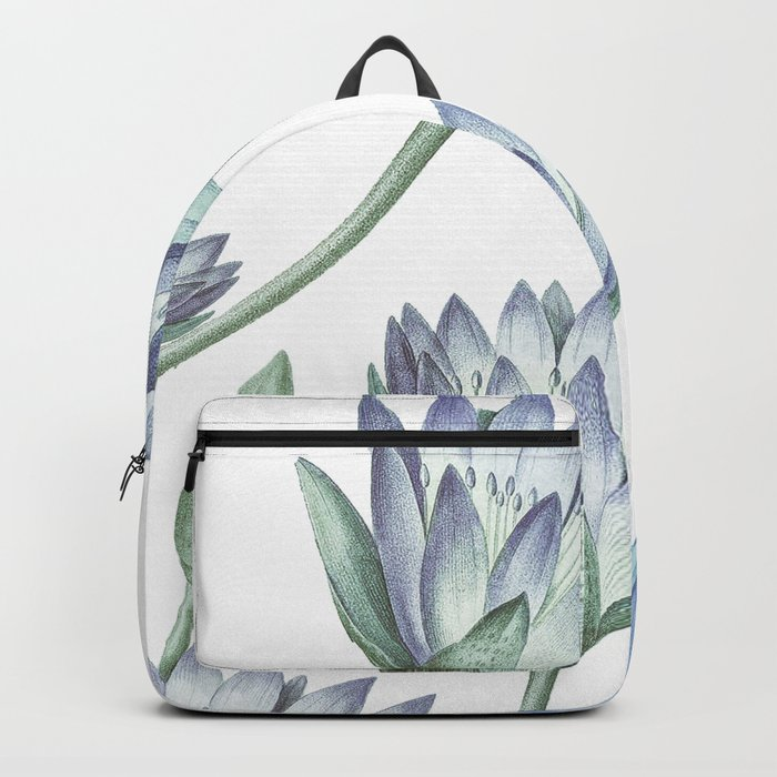 Water Lily Blue Backpack