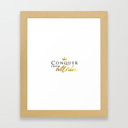 Conqueror Framed Art Print