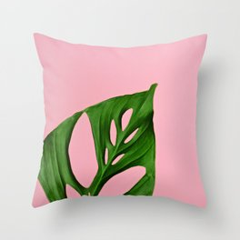 Plants on Pink v2 Throw Pillow