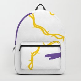 He is Risen Easter Sunday Crown of Thorns Backpack