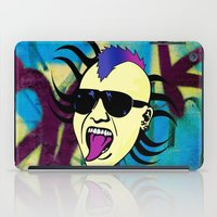 punk iPad Cases featuring PUNK!!! by Denis Marsili DDTK