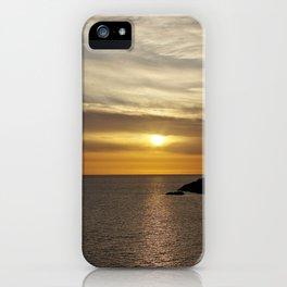 Sunset over the sea of Gaeta iPhone Case
