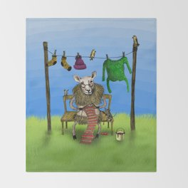 Sheep Throw Blanket