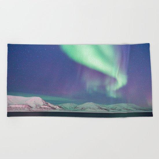 Aurora Borealis Beach Towel