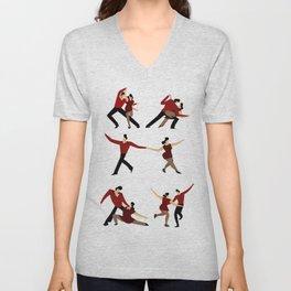 salsa dancers Unisex V-Neck
